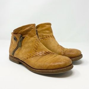 A.S. 98 // Golden Tan Leather Booties